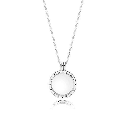 Pandora Women's Floating Locket, Medium, Sapphire Crystal Glass Item #590529-60