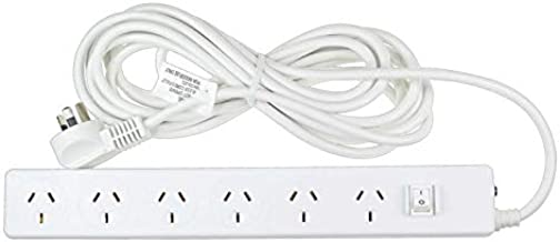 Jackson PT6225 6-Outlet Surge Protected Powerboard with 5 Metre Lead