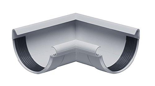 INEFA Rinnenwinkel NW 150, 90°, Wulst außen oder innen, halbrund, Kunststoff, Regenrinne, Dachrinne