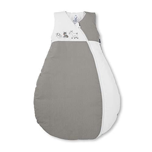 Sterntaler Schlafsack für Kleinkinder, Ganzjährig, Wärmeregulierung, Reißverschluss, Größe: 70, Waldis, Weiß/Grau