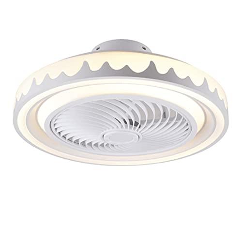 MJJLT Ventilador De Luz De Techo Moderno con Kit De Control Remoto, Candelabro De Ventilador LED De 20 Pulgadas 3 Colores Que Cambian La Velocidad De Iluminación Interior Ajustable Gray
