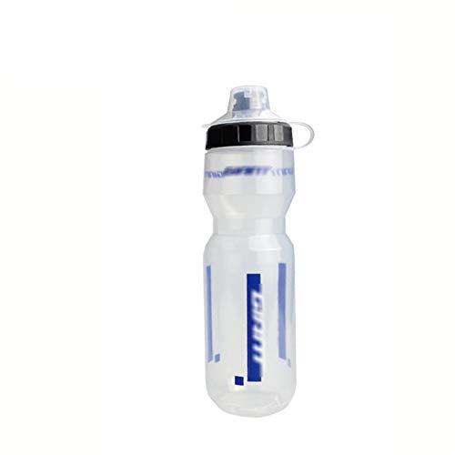 PPKZY Botella de Agua de Bicicleta MTB Mountain Road Bike Kettle Portátil Copa Deportiva al Aire Libre 600ml / 750ml (Color : White B, Size : 600ml)
