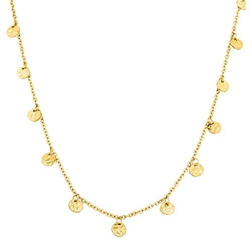PURELEI ® Malihini Halskette (Gold, Rosegold & Silber) Mit Anhänger (40 cm Länge) (Gold)