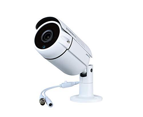 Eversecu 1080P 2.0MP HD CMOS Sensor AHD/TVI/CVI/960H Bullet Analog Camera, 2MP Full HD Weatherproof CCTV Security Camera for Outdoor Surveillance, 3.6 mm Lens, Metal, White