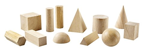 Learning Resources Hardwood Geometric Solids 12-Pk