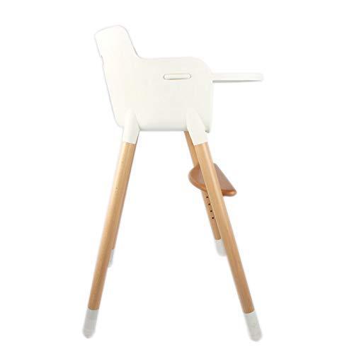 WWWWW-DENG Barkruk Kinderstoelen Baby Eettafel Stoelen Effen Hout Verschuiven Hoge uiteinde Multi functionele Nordic Kinderdiner Tafel (kleur: Wit Afmeting: Grote) Barkruk Large Kleur: wit