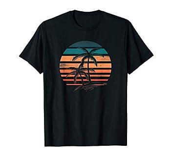 Retro Vintage Sunset Palm Trees T Shirt