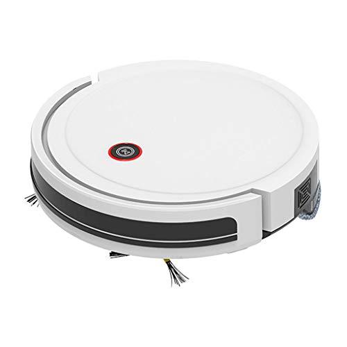 YS&VV Barrendero Control de Aplicaciones Inteligente Autocargable Aspiradora Robótica,3 en 1 Limpieza en Seco y En Húmedo para La Oficina en Casa White
