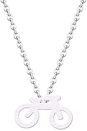 WYDSFWL Halskette Mountainbike Charm Anhänger Halskette Kragen Edelstahl Minimalist Schmuck Halskette Für Frauen Männer Geschenke Geschenk