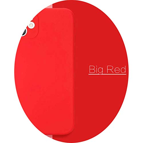 Liquid Silicone Back Case For iPhone 12 Mini Pro MAX Cellphone Case For iPhone X XS MAX XR 7 8 6 6S Plus SE 2020 Cover,Big Red,for12 Pro MAX