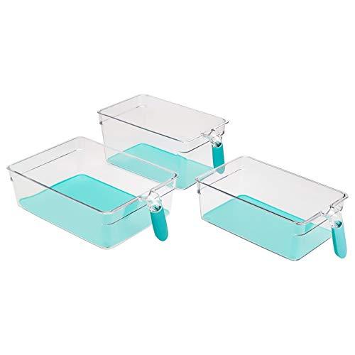 AmazonBasics – Kühlschrank-Behälter mit Griff, 6 Stück