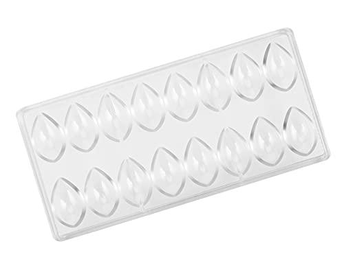 Haudang Lotus Form PC - Molde de policarbonato para chocolate, 3D, para alimentos, chocolate, cocina, herramientas de horneado
