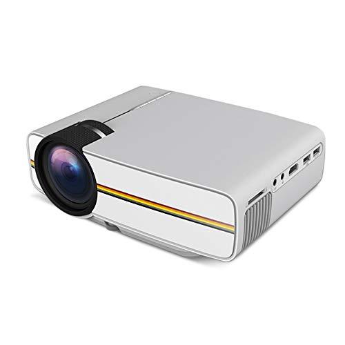 Draagbare mini-projector voor thuisbioscoop, 1080p, mini-projector, LED, 2000 lumen, hoge kwaliteit, Focusing lens, huis en kantoor projector