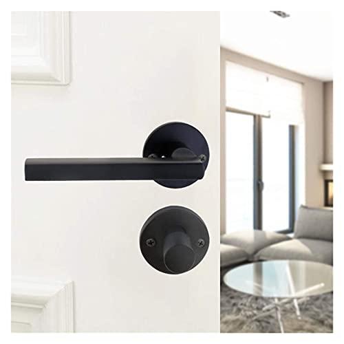 Veiligheidsslot 1 set Zwart Deurklink Slot Mute Cilinder Tong Binnendeur Knoppen Veiligheid Anti-diefstal apparaat Split lock Hardware Hardware
