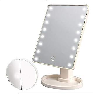 Symboat Make-upspiegel met licht, spiegel, LED, spiegel, helderheid verstelbaar, intelligent, 16 LED's, make-up spiegel, 1...