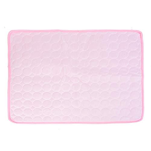 Manta Fria para Perros Alfombra Refrescante Perro Cool Mat For Dog Cool Dog Mat Cat Cooling Mat Cool Dog Bed Dog Cooling Rabbit Cooling Mat Pink,XL