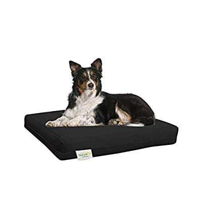 NaturoPet Natural Orthopedic Dog Bed, Premium Virgin Wool & Coco-Latex Pet Mattress Removable Washable Cover Water Resistant Indoor-Outdoor Durable Chew Resistant Made in USA