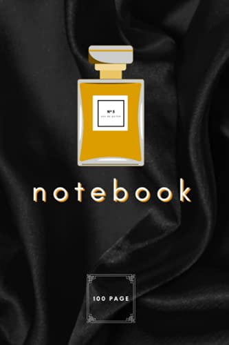 No 5 Eau De Parfum Notebook: Elegant, Couture Inspired Silky, Gloss Cover Notebook with Perfume Bottle Detail (Front) & Heels Detail (Back)