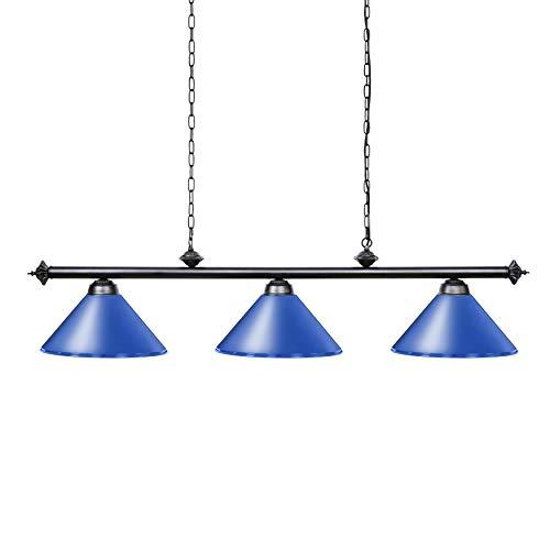 Wellmet 3 Light Pool Table Light for Game Room 7ft/8ft/9ft Tables, Vintage Kitchen Light for Man Cave, Kitchen, Dinning Room, Bar