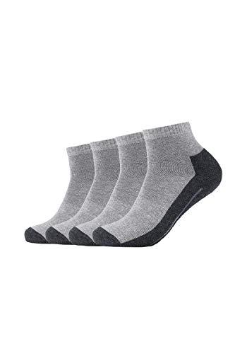 Camano 5932 Sport Quarter 4 Paar Chaussettes, Gris (Grey 10), FR: 39-42 (Taille Fabricant: 39/42) (Lot de 4) Homme
