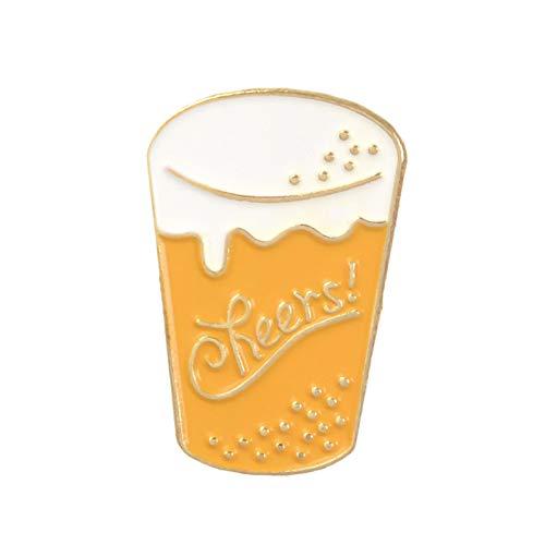 JTXZD broche Cheers! Fast Food Che Pizza Vibrant Energie Oranje MAKE Taarten Emaille Broche Pin badge Collectie