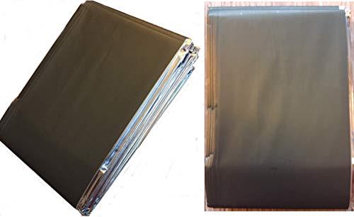 AMPRI Rettungsdecke Notfalldecke Rettungsfolie 210x160 cm Oliv Silber