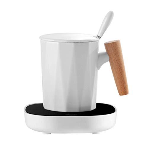 GIOAMH Calentador de tazas de café, calentador de tazas de café para escritorio, calentador de tazas de encendido y apagado automático para uso doméstico en la oficina, plato calentador de tazas para