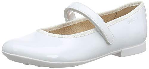 Geox Mädchen Jr Plie' A Geschlossene Ballerinas, Weiß, 34 EU