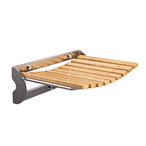 Stahl Duschstuhl Wand-, Dusche Klappsitz, Badehocker for Baden, ältere Menschen, Behinderte und eingeschränkter Mobilität, Massivholz-Dusche Stuhl, 250kg Gewicht Kapazität ( Size : Length 37.6cm )