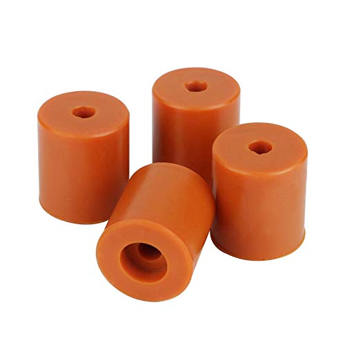 Yunobi 4PCS 3D Printer Heatbed Silicone Leveling Column Heat-Resistant Silicone Buffer for Prusa i3 Plus Anet A8 Wanhao D9 Mega