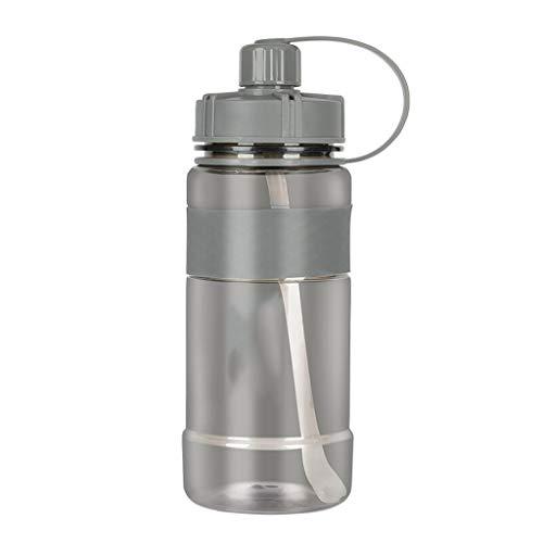 Xiaodou Outdoor Sportflasche aus Große Kapazitäts-Trinkflasche Fitness Große Plastikwasser-Cup Männer und Frauen Tragbare Bucket Cup Versiegelt Auslaufsicher Wasserflasche (Größe : 1500ml)
