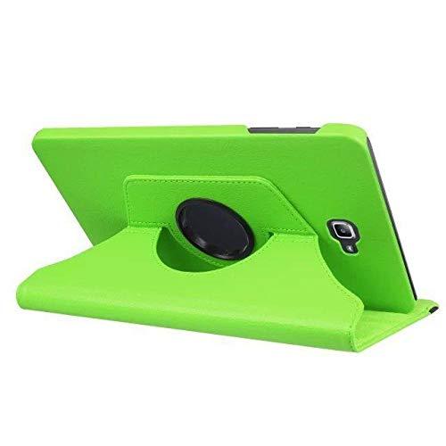 YYLKKB para Samsung Galaxy Tab A A6 10.1 2016 SM-T580 T580N T585 T585C Funda para Tableta Soporte Giratorio de 360 Grados Funda Protectora de Cuero-Verde