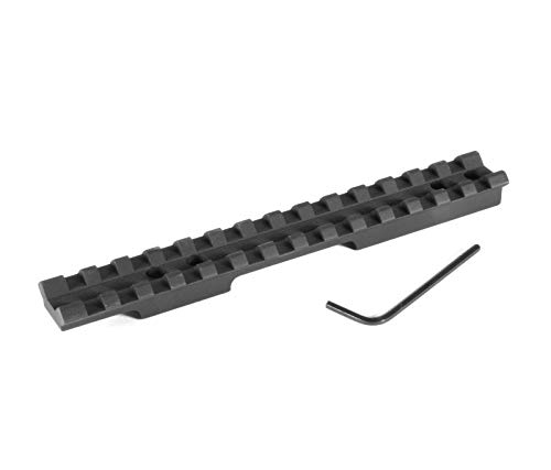 EGW Picatinny Rail Scope Mount, Black, for Savage 93 (1-5/8' Ejection Port) 0 MOA