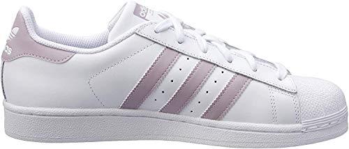 adidas Damen Superstar W Gymnastikschuhe, Weiß (Ftwr White/Legend Purple/Core Black Ftwr White/Legend Purple/Core Black), 38 EU