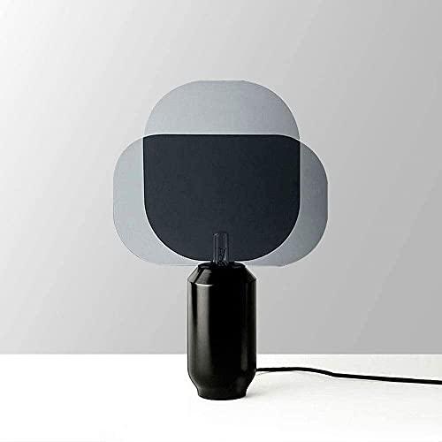 Rnwen Lámpara LED de Vidrio para Sala de Estar Simple y Moderna, cálida Plantilla Original, Lente de Dormitorio, Foco, lámpara de cabecera 1 * M11 (32 * 47 cm)