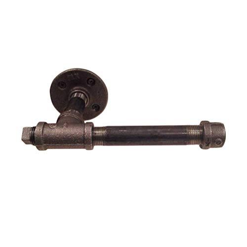 Rustikaler Toilettenpapierhalter für Industrierohre an der Wand, Tissue Roll Dispenser Handtuchhalter, Hochleistungs-DIY-Stil Für die Aufbewahrung im Badezimmer