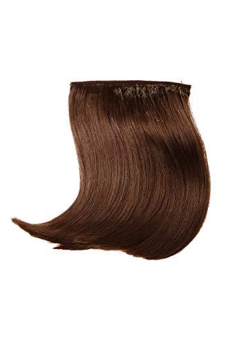 WIG ME UP - Frange clip-in recourbée coiffée raie fibre résistante à la chaleur extension capillaire brun YZF-3038-8