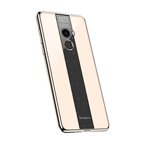 Funda para Xiaomi Mi Mix 2, Ultra Delgada Cubierta de Teléfono Anti-caída Reforzada con Refuerzo Acrílico Galvanizado Endurecido para Xiaomi Mi Mix 2 (Dorado)