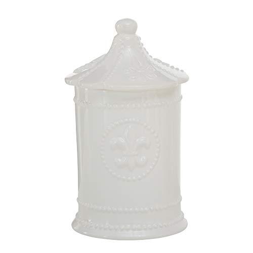 Home Collection Maison Cuisine Meubles Accessoires Conservation Pot en Céramique Décoré avec Chapeau Beige H 20 - Ø 11 cm