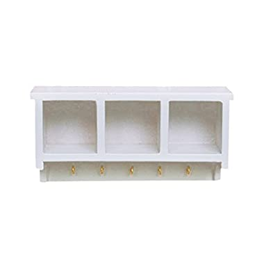 Kitchen Wood Wall Rack 1/12 Dollhouse Miniature White