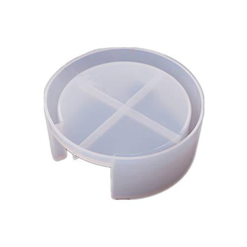 QPY Silikon-Untersetzer-Formen zum Selbermachen, Kristall-Epoxidharz-Form, Untersetzer, runde Untersetzer-Box, Kunstharz-Aufbewahrungsbox, Spiegel-Silikonform