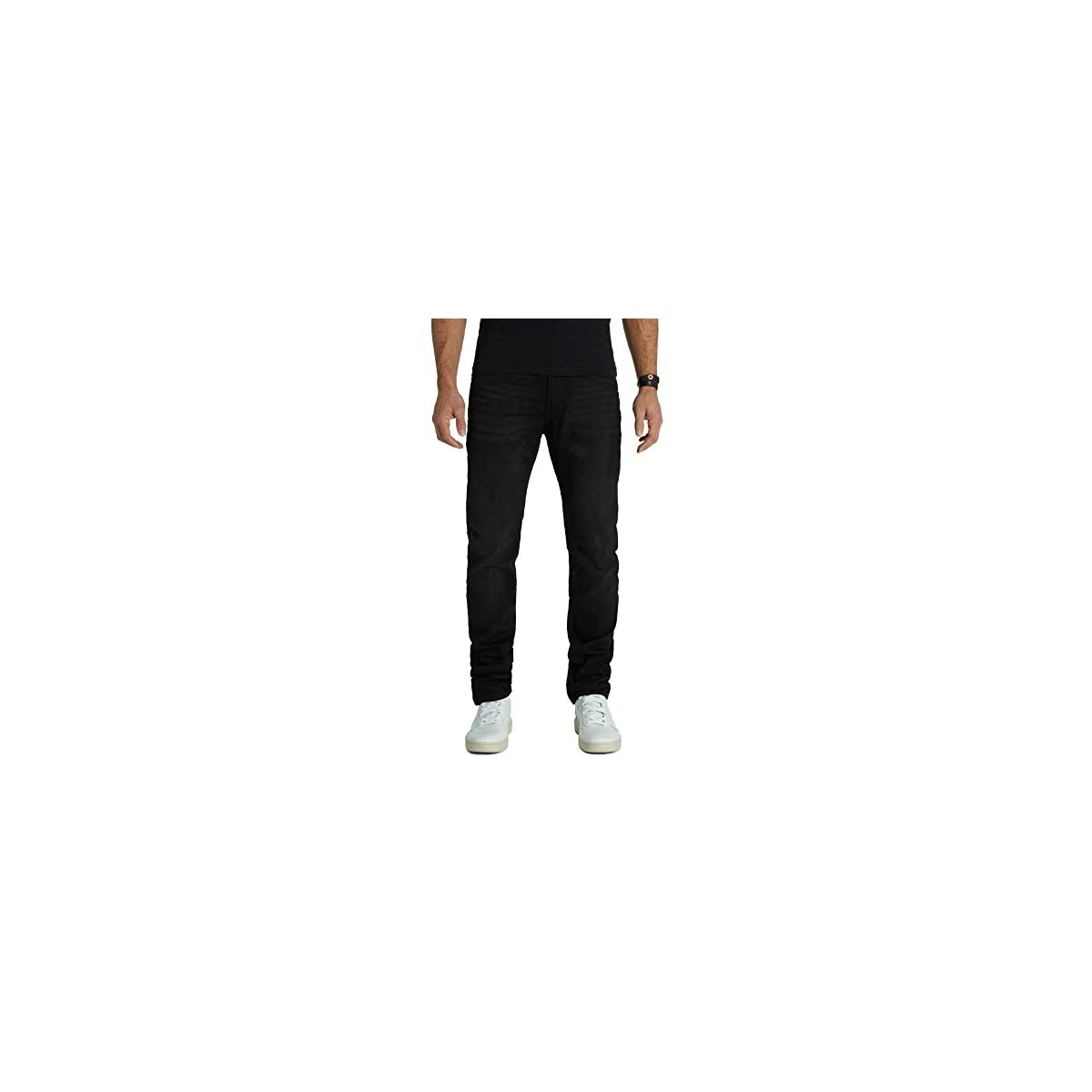 Kuyichi Herren Jeans Jamie Slim Back 2 Black Bio-Baumwolle