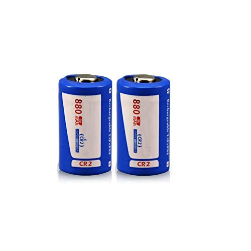 RECORDARME 2pcs3v Cr2 Rechargeable Battery High Capacity 880mah Lithium Ion Rechargeable Battery, for Camera Lithium Battery
