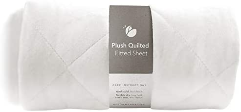 Guava Family Lotus Crib Plush Quilted Fitted Sheet Designed for Perfect Manufacturer Approved product image