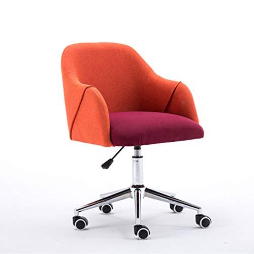 LYLY Chaise de Bureau Home Office Chair - Chaise de Bureau Ergonomique avec Bras pour Salle de conférence ou Chaise d'ordinateur de Meubles de Bureau Fauteuil de Bureau (Color : Red)