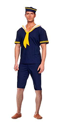 BESTHOO Halloween-Kleid Halloween Cosplay Party Kostüm blau Seemann männlich dunkelblau Anzug Halloween Kostüm männlichen Kapitän Anzug
