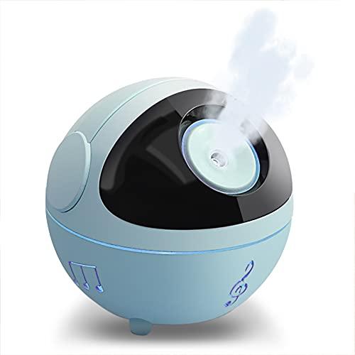 FOGARI Luftbefeuchter, Mini USB Ultraschall Humidifier mit 350ml Wassertank, Automatischer Abschaltung.Tragbarer luftbefeuchter,Bunter Cooler Nachtlicht funktion für Kinderzimmer,Büro,Auto(Blau)