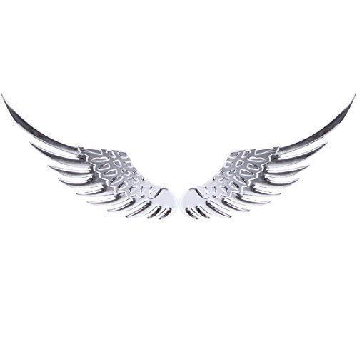 Metall 3D Flügel Engelsflügel Angel Auto Aufkleber Sticker Emblem Chrom Silber