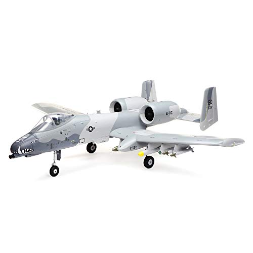 E-flite RC Airplane A-10 Thunderbolt II 64mm EDF BNF Basic (Transmitter, Battery and Charger not Included) with AS3X and Safe Select, EFL01150