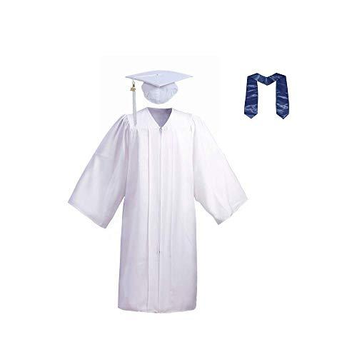 Cosplay Para Niños Bata Graduación Para Niños Gorra Graduación Con Borla Conjunto Disfraces Graduación Disfraces,White-61